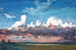 Cloud High by Timmy Mallett -  sized 12x8 inches. Available from Whitewall Galleries